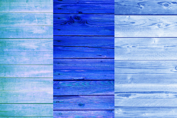 Blue Wood Digital Papers Graphic Backgrounds By BonaDesigns - Image 2