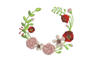 Bridal Shower Flower Wreath Bachelorette Embroidery Design By Embroidery Designs