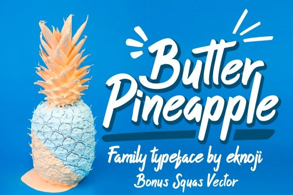 Print on Demand: Butter Pineapple Display Font By EKNOJI