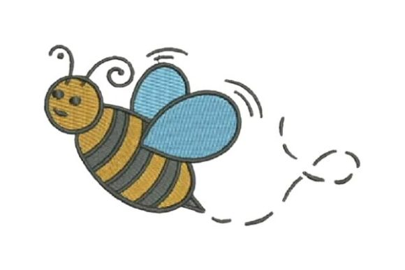 Buzzing Bee Bugs & Insects Embroidery Design By Embroidery Designs
