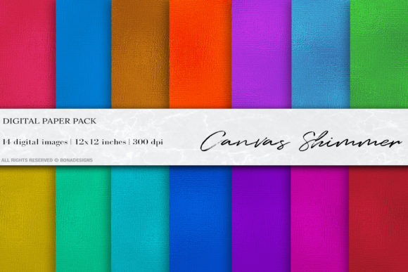 Canvas Shimmer Digital Papers Graphic Textures By BonaDesigns - Image 1