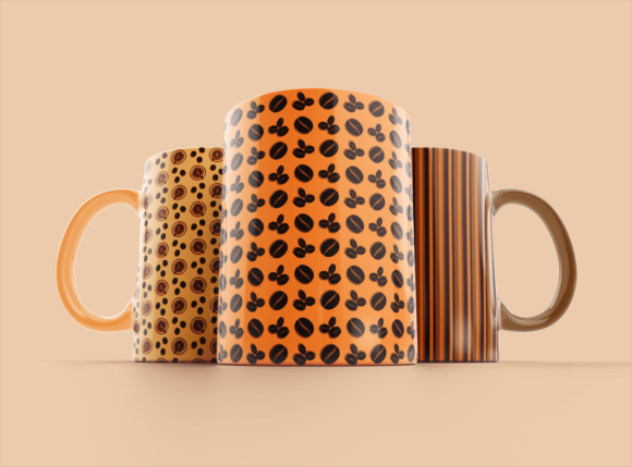 Print on Demand: Caramel Coffee Patterns Graphic Patterns By La Oliveira - Image 3