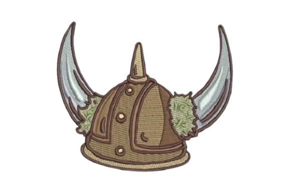 Cartoon Viking Helmet Toys & Games Embroidery Design By Embroidery Designs