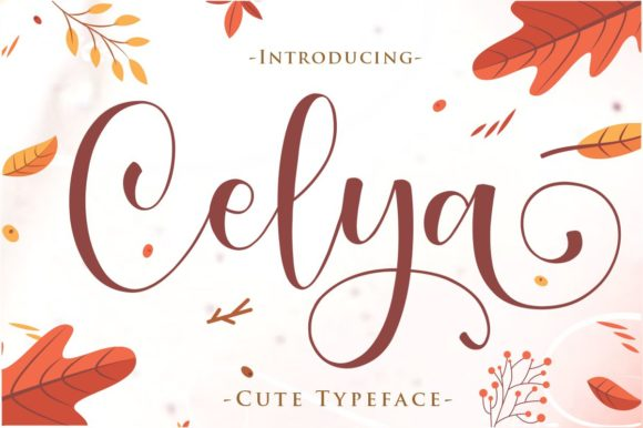 Print on Demand: Celya Script & Handwritten Font By Gilar Studio