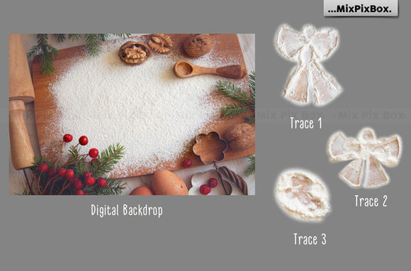 Download Free Christmas Cookie Snow Angel Backdrop Graphic By Mixpixbox Creative Fabrica for Cricut Explore, Silhouette and other cutting machines.