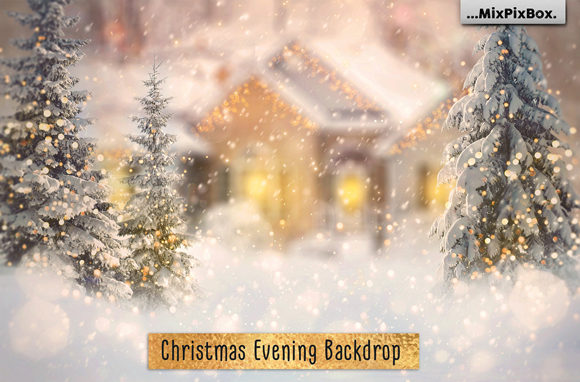 Print on Demand: Christmas Evening Digital Backdrop Graphic Layer Styles By MixPixBox