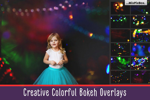Print on Demand: Colorful Bokeh Photo Overlays Graphic Layer Styles By MixPixBox