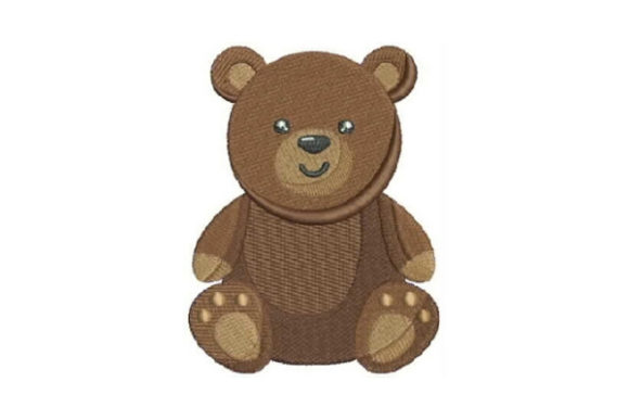 Cute Teddy Bear Teddy Bears Embroidery Design By Embroidery Designs - Image 1