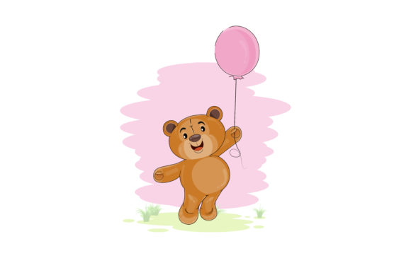Download Free Cute Teddy Bear Cartoon Graphic By Ngabeivector Creative Fabrica for Cricut Explore, Silhouette and other cutting machines.