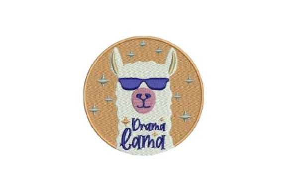 Drama Llama Animal Quotes Embroidery Design By Embroidery Designs - Image 1