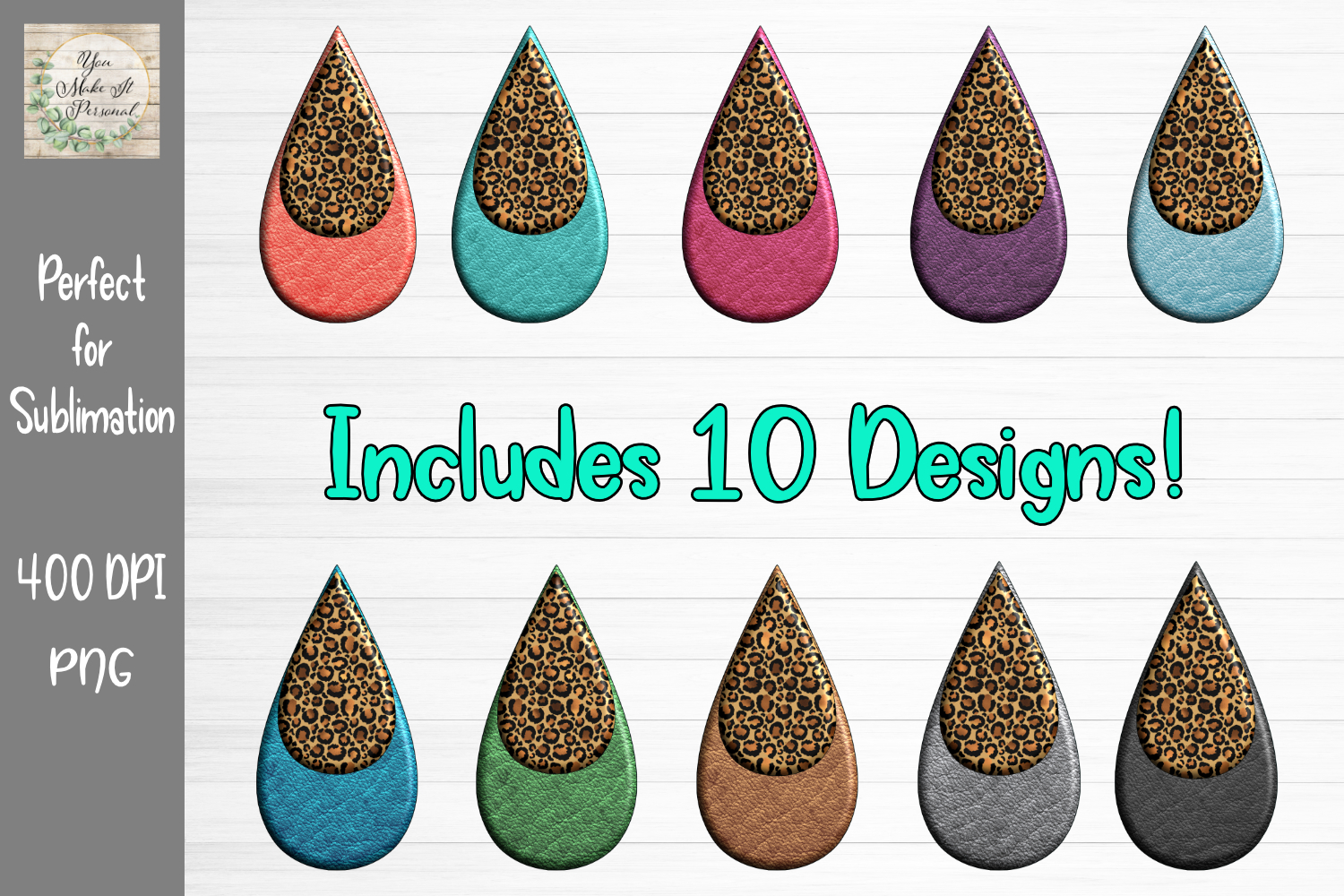 Download Free Earring Bundle Leopard And Leather Graphic By You Make It for Cricut Explore, Silhouette and other cutting machines.
