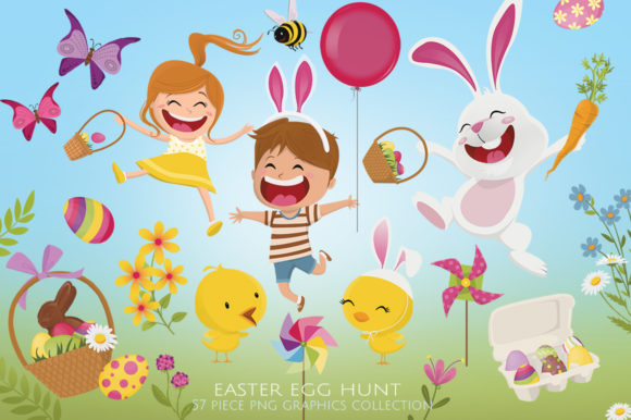 Easter Egg Hunt Graphic Illustrations By Dapper Dudell