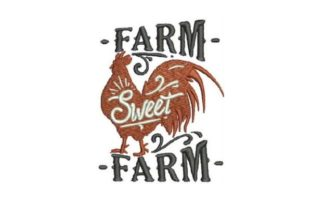 Farm Sweet Farm Granja y rural Diseños de bordado Por Embroidery Designs