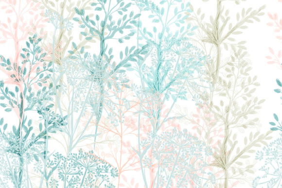 Fashion Floral Pattern in Blue Graphic Patterns By fleurartmariia
