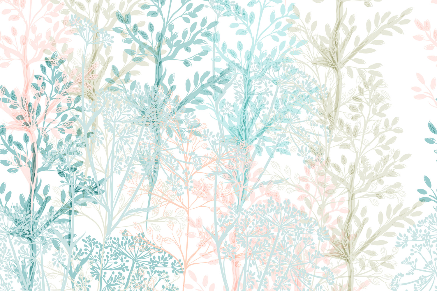 Download Free Fashion Floral Pattern In Blue Graphic By Fleurartmariia for Cricut Explore, Silhouette and other cutting machines.