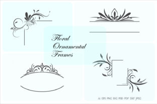 Floral Frames and Borders Graphic Crafts By Aghadhia Studio