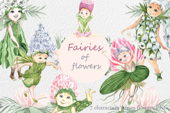 Print on Demand: Flower Fairies Graphic Illustrations By laffresco04 - Image 1