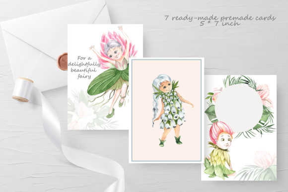 Print on Demand: Flower Fairies Graphic Illustrations By laffresco04 - Image 2