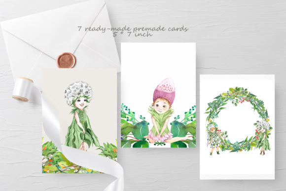 Print on Demand: Flower Fairies Graphic Illustrations By laffresco04 - Image 3