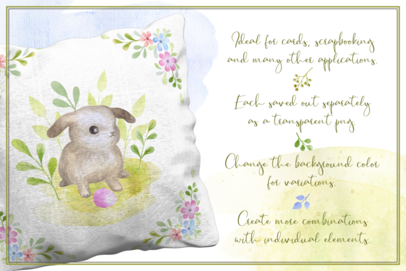 Print on Demand: Follow the Bunny Watercolor Graphic Illustrations By Olga Belova - Image 3