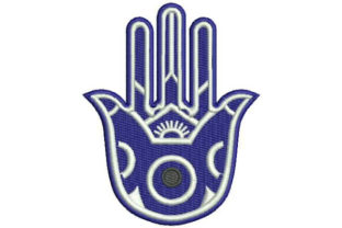 Hamsa with the Evil Eye Boho Embroidery Design By Embroidery Designs