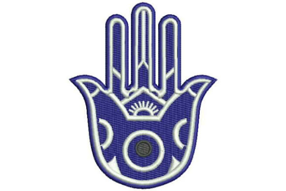 Hamsa with the Evil Eye Boho Diseños de bordado Por Embroidery Designs