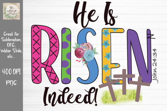 Download Free He Is Risen Indeed Easter Design Graphic By You Make It Personal SVG Cut Files