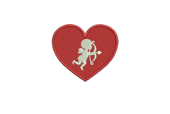 Heart Cupid Valentine's Day Embroidery Design By Embroidery Designs