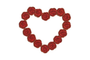 Heart Made of Roses Floral Wreaths Embroidery Design By Embroidery Designs