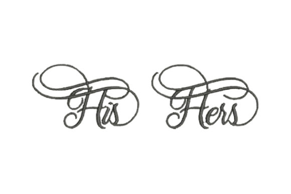 His Hers Wedding Family Embroidery Design By Embroidery Designs - Image 1