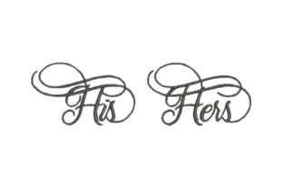 His Hers Wedding Family Embroidery Design By Embroidery Designs