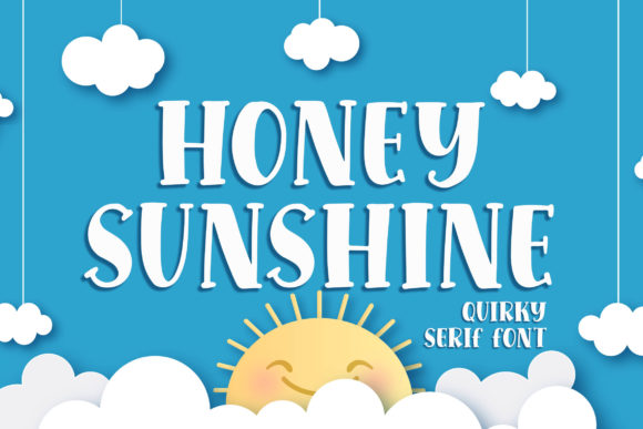 Print on Demand: Honey Sunshine Display Schriftarten von Blankids Studio