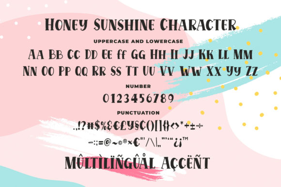 Print on Demand: Honey Sunshine Display Font By Blankids Studio - Image 6
