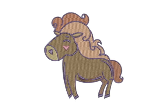Horse Cartoon Horses Embroidery Design By Embroidery Designs - Image 1