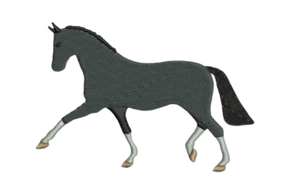 Horse Dressage Horses Embroidery Design By Embroidery Designs