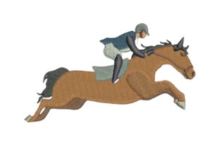 Horse Show Jumping Profile Horses Embroidery Design By Embroidery Designs