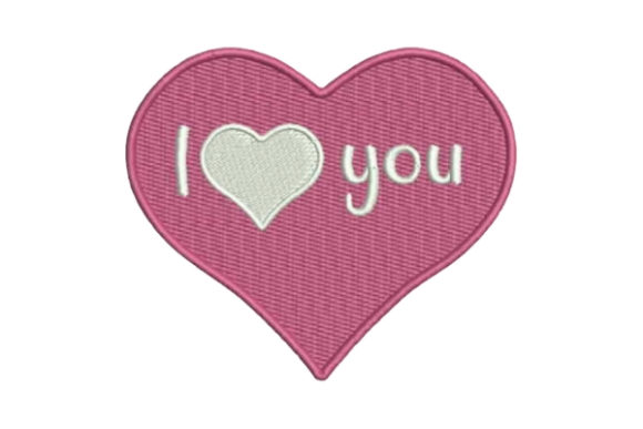 I Heart You Pink Valentine's Day Embroidery Design By Embroidery Designs
