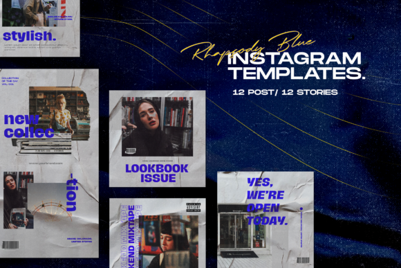 Print on Demand: Instagram Template Vol.5 Gráfico Páginas web Por ovoz.graphics