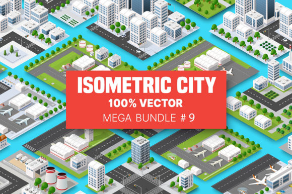 Print on Demand: Isometric Set Terminal Airport Graphic Illustrations By AlexZel