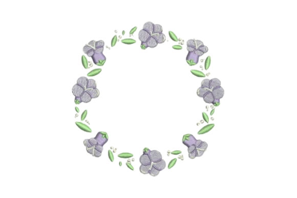 Jacaranda Frame Floral Wreaths Embroidery Design By Embroidery Designs - Image 1