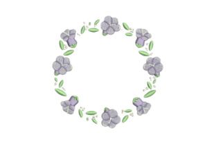 Jacaranda Frame Floral Wreaths Embroidery Design By Embroidery Designs