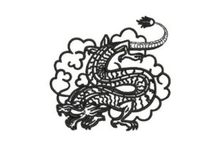 Japanese Style Tattoo Dragon Asia Embroidery Design By Embroidery Designs
