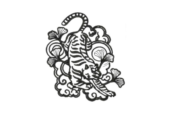 Japanese Style Tattoo Asia Embroidery Design By Embroidery Designs - Image 1