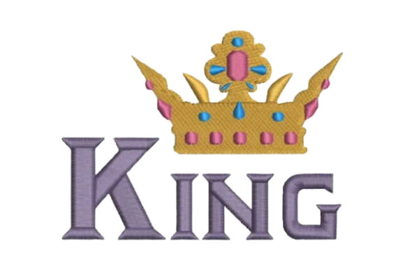King Crown Father Embroidery Design By Embroidery Designs - Image 1