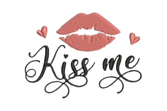 Kiss Me Lips Valentine's Day Embroidery Design By Embroidery Designs - Image 1