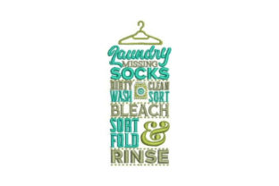 Laundry Room Subway Art Hanger Cleaning Embroidery Design By Embroidery Designs