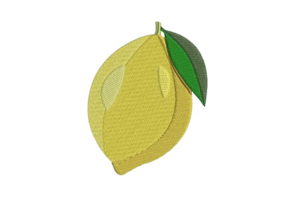 Lemon Food & Dining Embroidery Design By Embroidery Designs