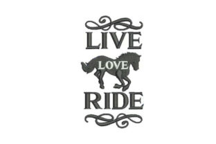 Live Love Ride Horses Embroidery Design By Embroidery Designs