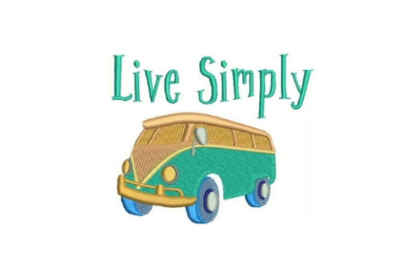 Live Simply Transportation Embroidery Design By Embroidery Designs - Image 1