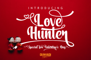 Print on Demand: Love Hunter Script & Handwritten Font By DUMADI